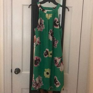 High neck, cross back/backless shift dress